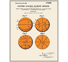 Basketball Patent - Colour Photographic Print