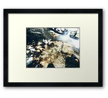 Water Flowing Framed Print