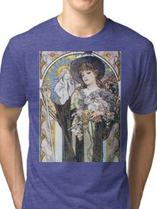 Alphonse Mucha - La Tosca Tri-blend T-Shirt