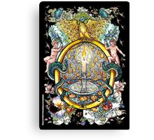 """The Illustrated Alphabet Capital  O  """"Getting personal"""" from THE ILLUSTRATED MAN Canvas Print"""
