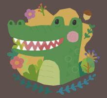 A Cute Crocodile One Piece - Short Sleeve