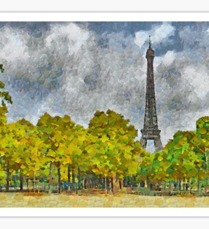 The Eiffel Tower Viewed From Place Jacques Rueff Sticker