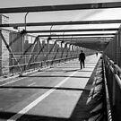Walking, Williamsburg Bridge by prbimages