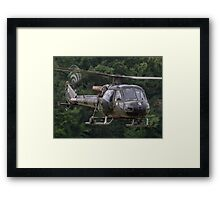 British Army Westland Scout Helicopter Framed Print