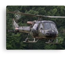 British Army Westland Scout Helicopter Canvas Print