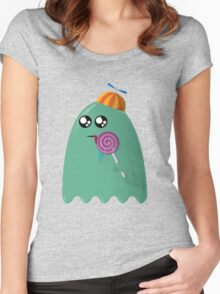 Pac-Man Ghost Women's Fitted Scoop T-Shirt