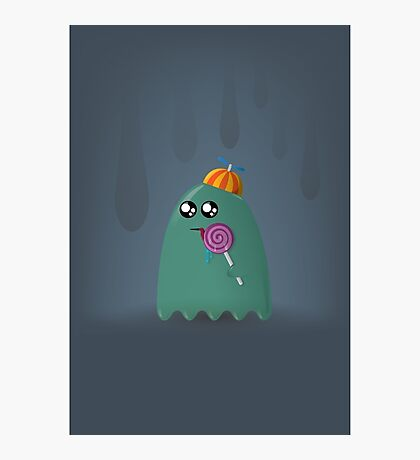 Pac-Man Ghost Photographic Print