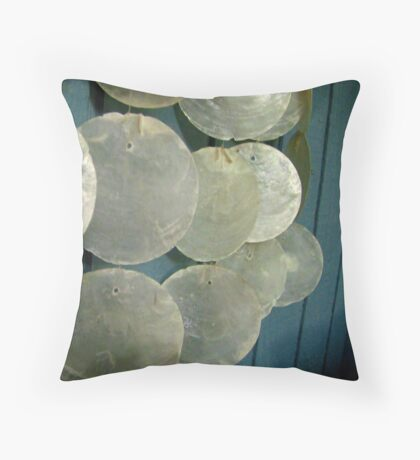 Wind Chime in Blue 01 Throw Pillow