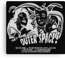 They Came From Outer Space! - Black Edition Canvas Print
