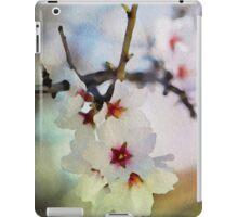 Almond tree flowers in watercolor iPad Case/Skin