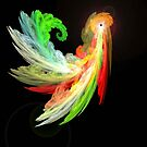 Colorful Bird  fractal abstract by MaeBelle