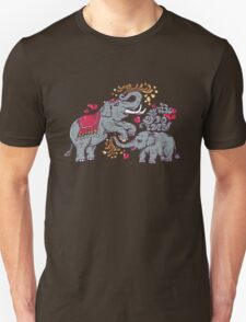 Thai elephants family Unisex T-Shirt