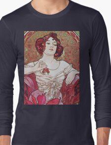 Alphonse Mucha - Le Rubisruby Long Sleeve T-Shirt