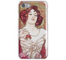 Alphonse Mucha - Le Rubisruby iPhone Case/Skin