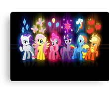 My Little Pony Neon Poster Canvas Print