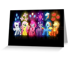 My Little Pony Neon Poster Greeting Card