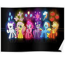 My Little Pony Neon Poster Poster