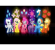 My Little Pony Neon Poster Photographic Print