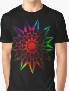 Trippy Star - Colorful Geometric Abstract Vector Star Graphic T-Shirt
