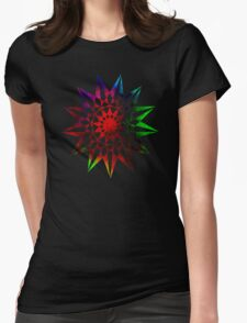 Trippy Star - Colorful Geometric Abstract Vector Star Womens Fitted T-Shirt