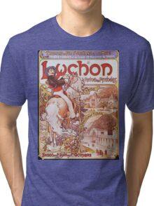 Alphonse Mucha - Luchon La Reine Des Pyreneesluchon Queen Of The Pyrenees Tri-blend T-Shirt