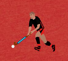 Male Field Hockey Player Tri-blend T-Shirt