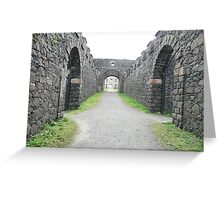 At Mussenden Temple grounds Greeting Card