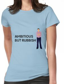 """Jeremy Clarkson """"Ambitious but rubbish"""" original design Womens Fitted T-Shirt"""