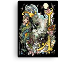 """The Illustrated Alphabet Capital  U  """"Getting personal"""" from THE ILLUSTRATED MAN Canvas Print"""
