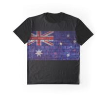 Australia flag on vintage brick wall Graphic T-Shirt