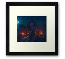 rize shadow midst Framed Print