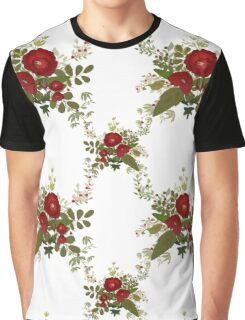 Seamless floral pattern with red poppies on white Graphic T-Shirt