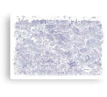 Illustrated map of Berlin-Mitte. Ink pen design Metal Print