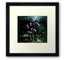 masked up and ready to go  Framed Print