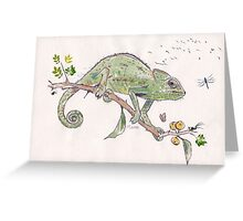 The colourful world of Chameleons Greeting Card