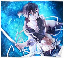 noragami blue electric Poster