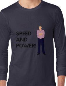 "Jeremy Clarkson ""Speed and power!"" original design Long Sleeve T-Shirt"