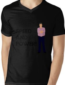 "Jeremy Clarkson ""Speed and power!"" original design Mens V-Neck T-Shirt"