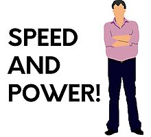 """Speed and power!"" original design Photographic Print"