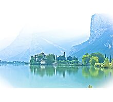 ... romantic fairytale-like fortress, Lake Toblino, Trento, Italy ~ 3 ~ Photographic Print