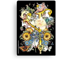 """The Illustrated Alphabet Capital  Y  """"Getting personal"""" from THE ILLUSTRATED MAN Canvas Print"""