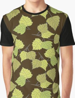 Birch leaves brown background Graphic T-Shirt