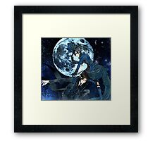 full moon with ciel and bassy  Framed Print