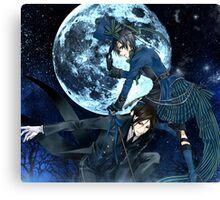 full moon with ciel and bassy  Canvas Print