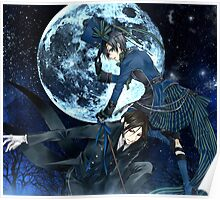 full moon with ciel and bassy  Poster