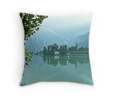 ... romantic fairytale-like fortress, Lake Toblino, Trento, Italy ~ 4 ~ Throw Pillow