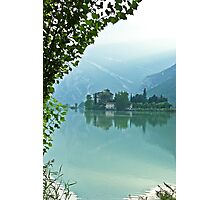 ... romantic fairytale-like fortress, Lake Toblino, Trento, Italy ~ 4 ~ Photographic Print
