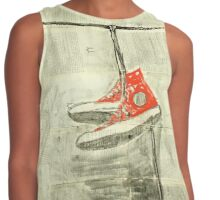 Wire and sneakers.  Contrast Tank