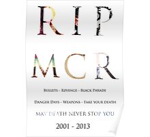 RIP MCR Poster