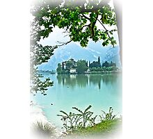 ... romantic fairytale-like fortress, Lake Toblino, Trento, Italy ~ 2 ~ Photographic Print